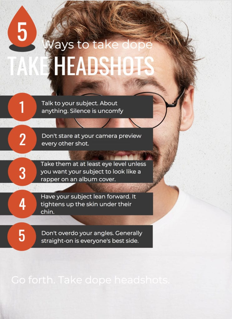 Infograph on taking headshots in NYC